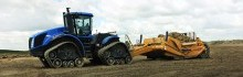 K-Tec 1228 Scraper Model with New Holland Tractor in Regina