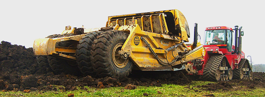 K-Tec 1288 Scraper Model in Midwestern USA Topsoil