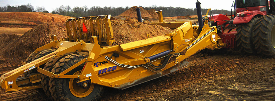 K-Tec 1288 Scraper Model in South USA Topsoil Agriculture