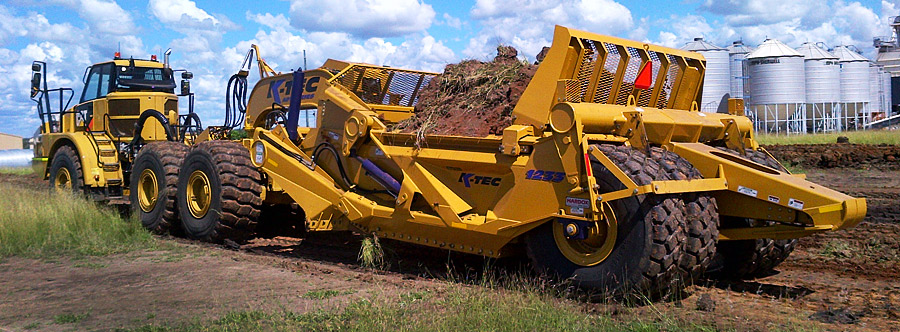 K-Tec 1233ADT Scraper Model in East Australia Topsoil