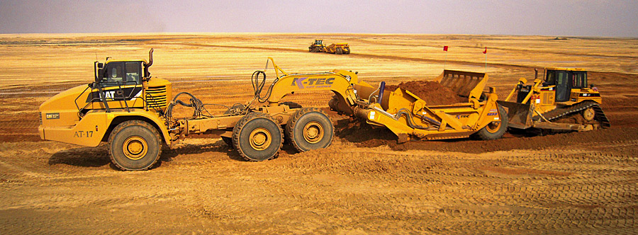 K-Tec 1233ADT Scraper Model in Middle East Sand