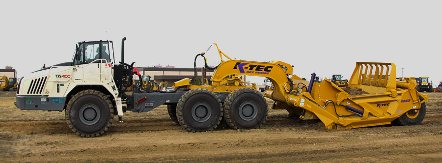 K-Tec 1233ADT Scraper Model in North USA Topsoil