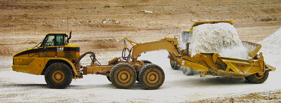 K-Tec 1233ADT Scraper Model in South USA Gypsum