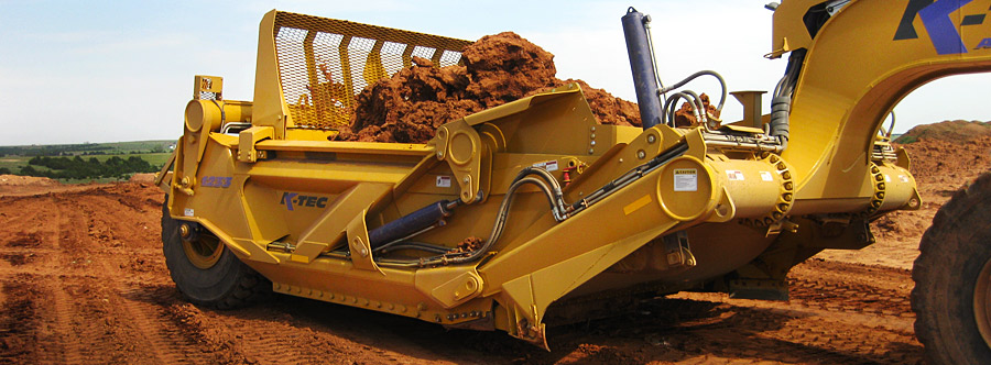 K-Tec 1233ADT Scraper Model in South USA Topsoil