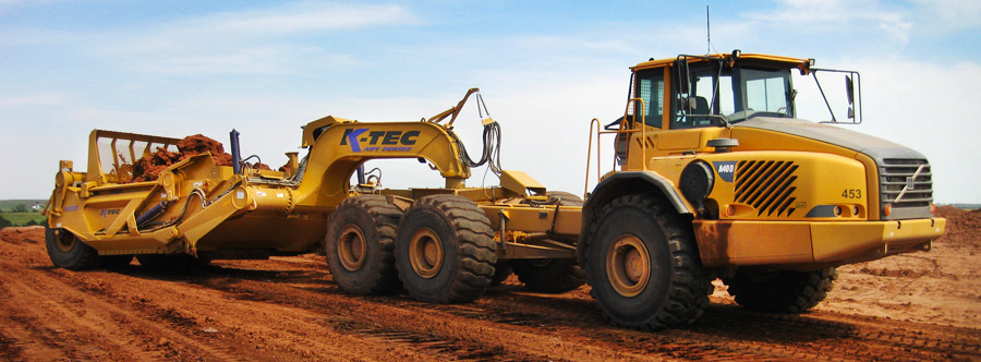 K-Tec 1233ADT Scraper Model in South USA Gypsum Topsoil