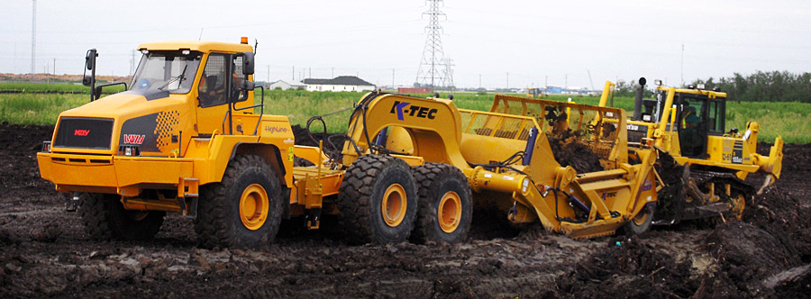 K-Tec 1233ADT Scraper Model in Western Canada Clay