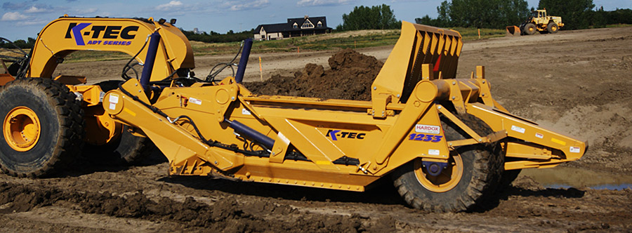 K-Tec 1233ADT Scraper Model in Western Canada Topsoil