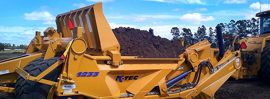 K-Tec 1233SS Scraper Model in Australia Topsoil