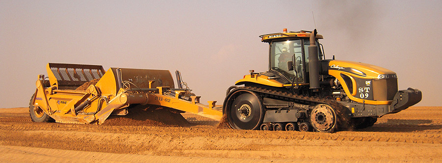 K-Tec 1233SS Scraper Model in Middle East Sand