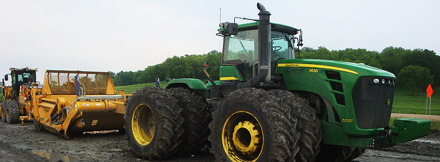 K-Tec 1233SS Scraper Model in Midwestern America Topsoil