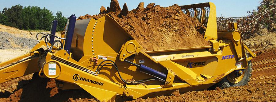K-Tec 1233SS Scraper Model in Midwestern America Sand