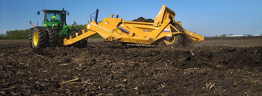 K-Tec 1233SS Scraper Model in North America Topsoil