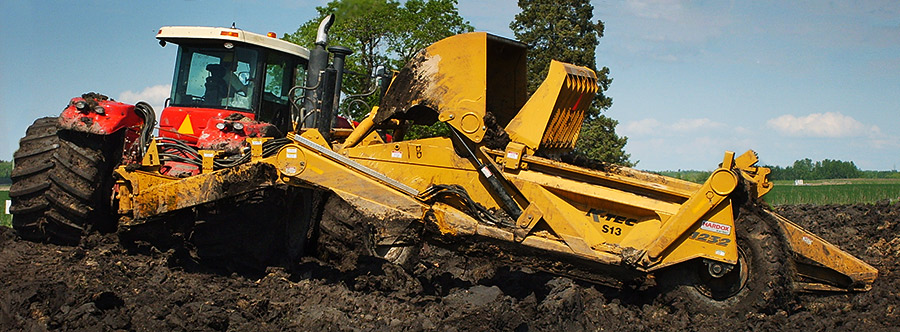 K-Tec 1233SS Scraper Model in West Canada Clay
