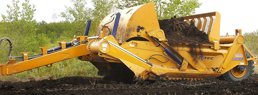 K-Tec 1233SS Scraper Model in West Canada Topsoil