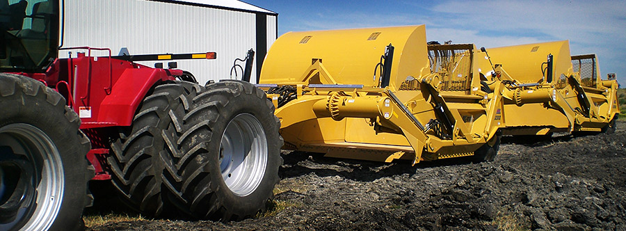 K-Tec 1233 Train Scraper Model in West Canada Topsoil