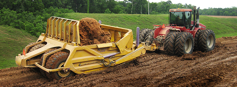 K-Tec 1236 Scraper Model in South USA Topsoil