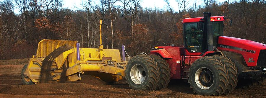 K-Tec 1236 Scraper Model in Western Canada Topsoil