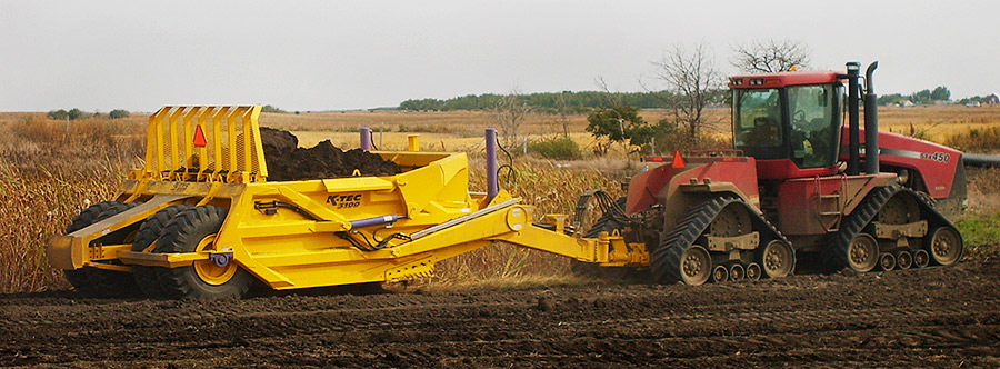 K-Tec 1236 Scraper Model in West Canada Topsoil