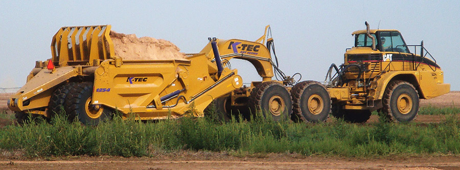 K-Tec 1254ADT Scraper Model in South America Sand