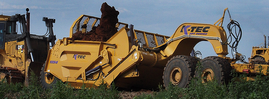 K-Tec 1254ADT Scraper Model in South American Topsoil