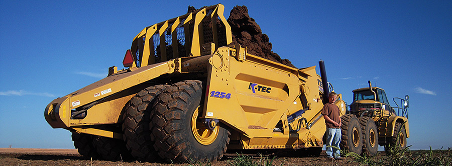 K-Tec 1254ADT Scraper Model in South America Topsoil