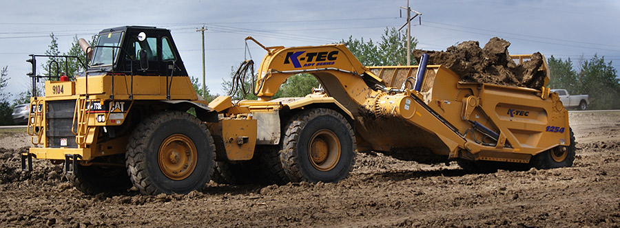 K-Tec 1254ADT Scraper Model in West Canada Clay