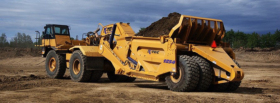 K-Tec 1254ADT Scraper Model in West Canada Topsoil