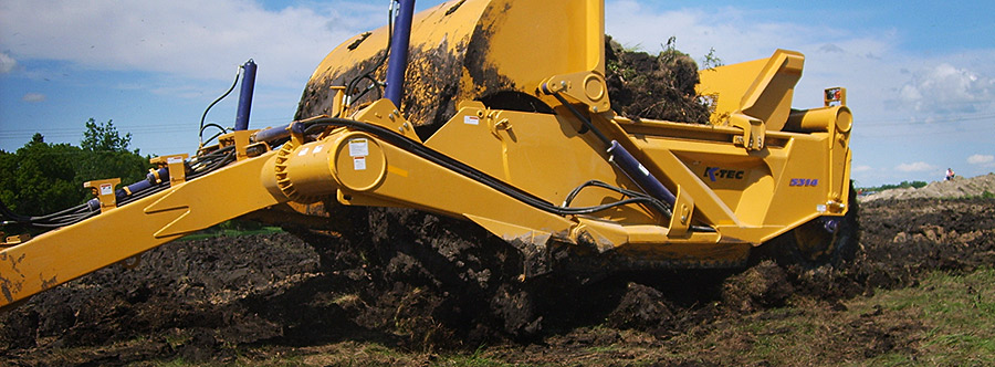 K-Tec 1453 Scraper Model in West Canada Topsoil