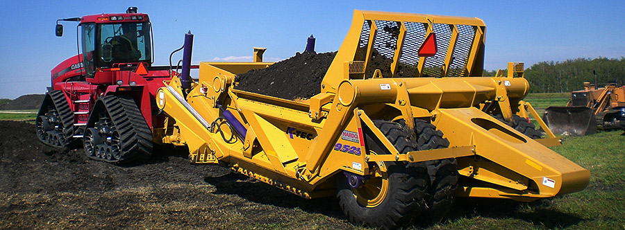 K-Tec 9.525SS Scraper Model in West Canada Topsoil