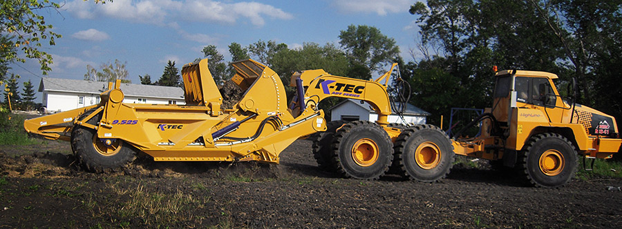K-Tec 9.525ADT Scraper Model in West Canada Topsoil