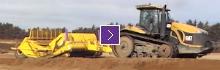 K-Tec 1228 Scraper Model loading Sand