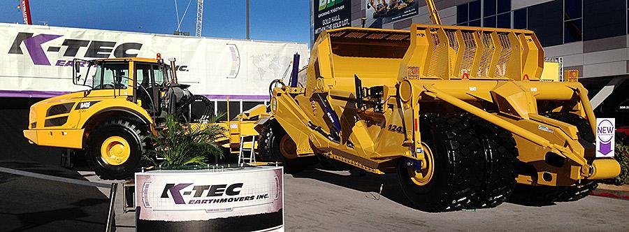 K-Tec 1243ADT Scraper Model in CONEXPO-CON/AGG 2014