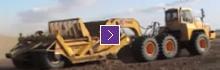 K-Tec1233 ADT Scraper Model Unloading Sand with Doosan
