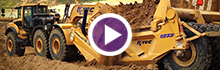 K-Tec 1233 ADT Scraper with Volvo A40Ffs/CAT D9R in Midwest USA