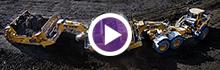 K-Tec 1233 ADT Trains Scraper Unloading Clay (Aerial View) in Western Canada
